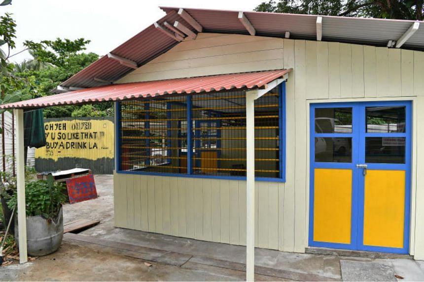 The exterior of house No. 239 at Jalan Endut Senin after restoration works.