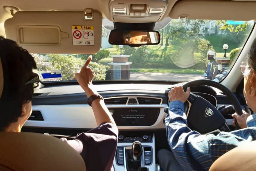 Photos uploaded on social media showed Tun Dr Mahathir, 94, driving a Proton car to the federal capital with his 93-year-old wife, Tun Dr Siti Hasmah Mohamad Ali.