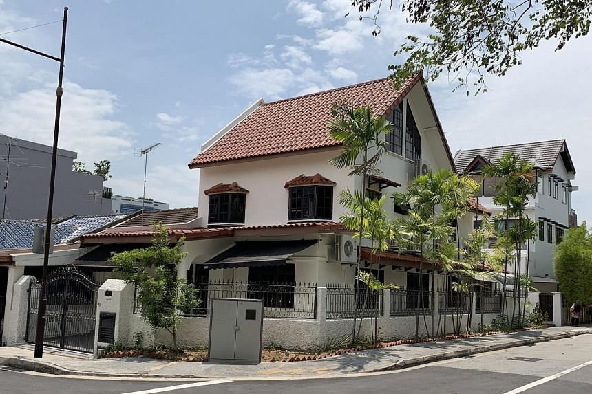 Mr Nizam's corner terrace house, where he will move into next year, after the minimum occupation period of his HDB flat.