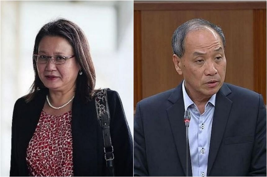 Workers' Party MPs Sylvia Lim (left) and Low Thia Khiang, who were held accountable for improper payments made by AHTC, aim to challenge the High Court's decision in the civil case brought against them by the town council.