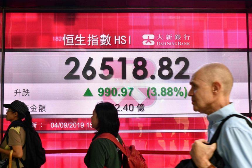 The Hang Seng Index rose 1.5 per cent.