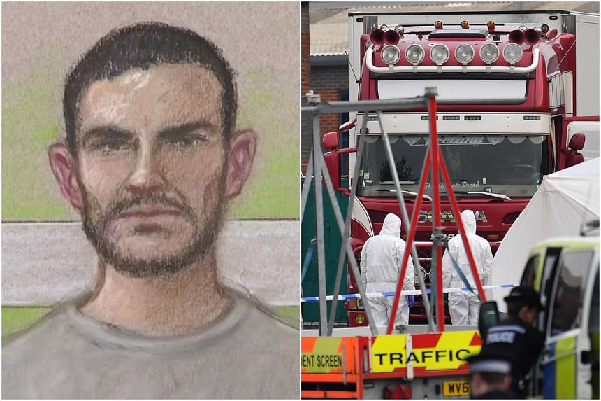 (Left) A courtroom sketch of British truck driver Maurice Robinson, on Oct 28, 2019. He is next due in court on Dec 13, 2019.