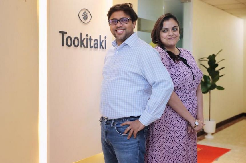 Tookitaki was co-founded in 2014 by chief executive officer Abhishek Chatterjee (left) and Jeeta Bandopadhyay, who is the firm's chief operating officer.