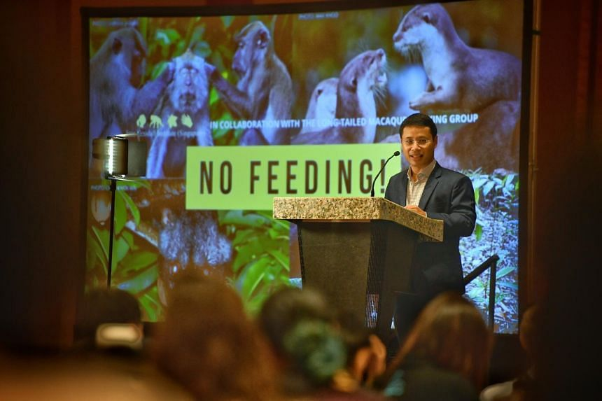 Minister for Social and Family Development Desmond Lee speaking at the Human-Wildlife Co-Existence in Asia: Conflicts and Mitigation Conference 2019.