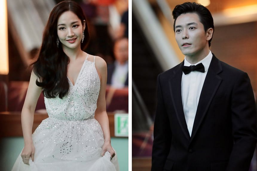 Park Min-young and Kim Jae-wook (both above), who starred in K-drama Her Private Life, clinched the Best Female Asian Star and the Best Male Asian Star awards respectively.