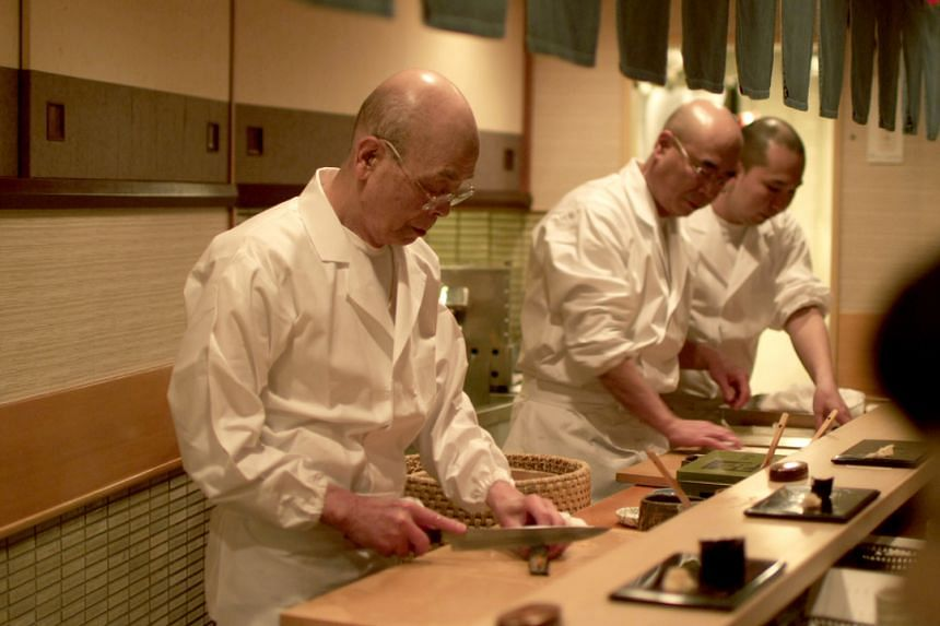 The restaurant is run by sushi maestro Jiro Ono, well into his 90s, helped by his eldest son Yoshikazu.