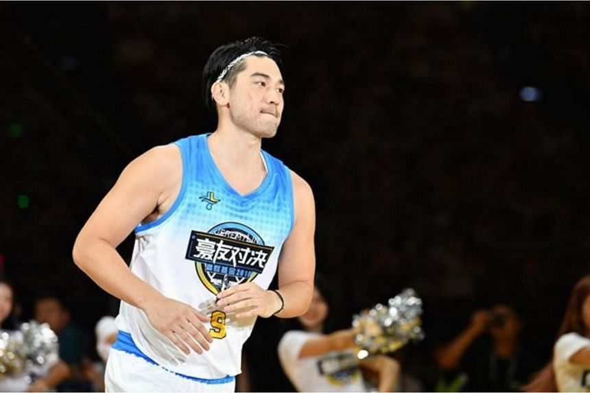Godfrey Gao in an All-Stars Game in Guangzhou on Aug 10, 2019.