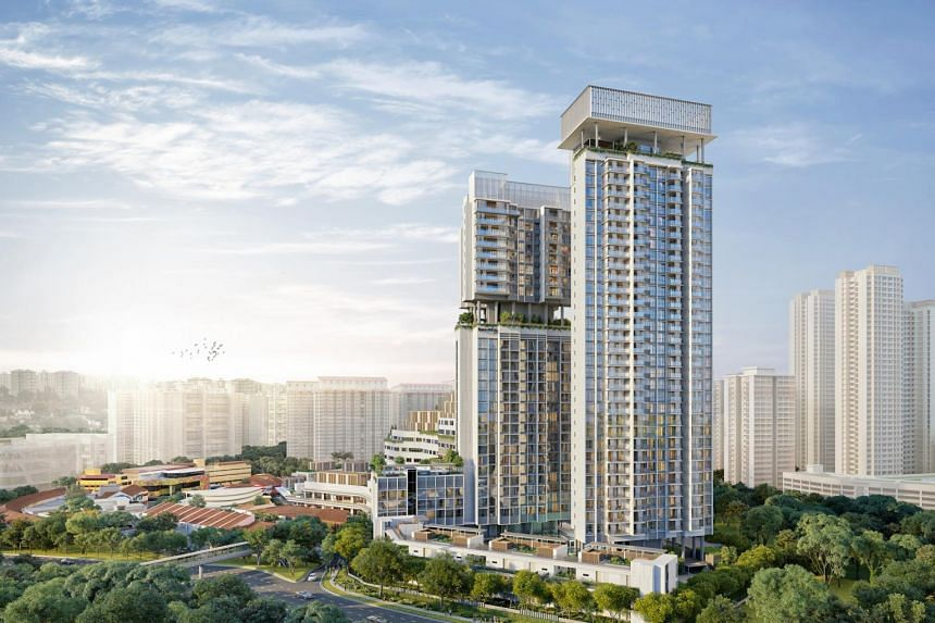Residential units at One Holland Village are split into three distinct blocks, and will be open for sale on Nov 30, 2019.