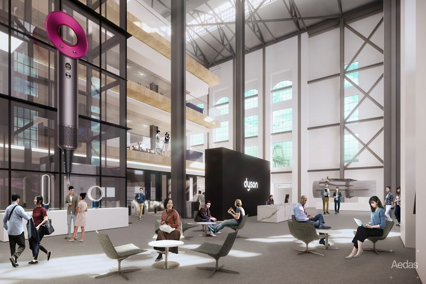 An artist's impression of the new Dyson headquarters, which will be located at St James Power Station.