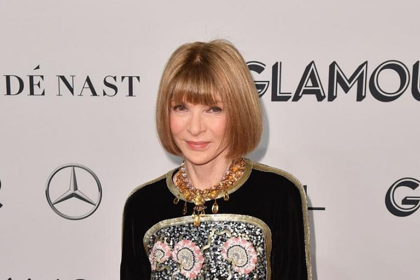 In a photo taken on Nov 11, 2019, Vogue Chief Editor Anna Wintour attends the 2019 Glamour Women Of The Year Awards at the Lincoln Centre in New York.