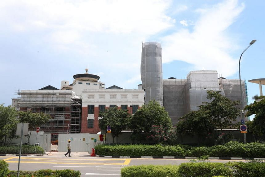 St James Power Station, pictured on Nov 28, 2019. Dyson has secured a new global headquarters building in Singapore at the waterfront site at 3 Sentosa Gateway.
