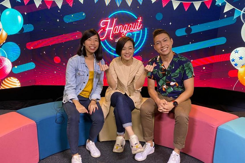 Golden Horse Awards winner Yeo Yann Yann with Hangout with ST hosts Hairianto Diman and Renee Poh.