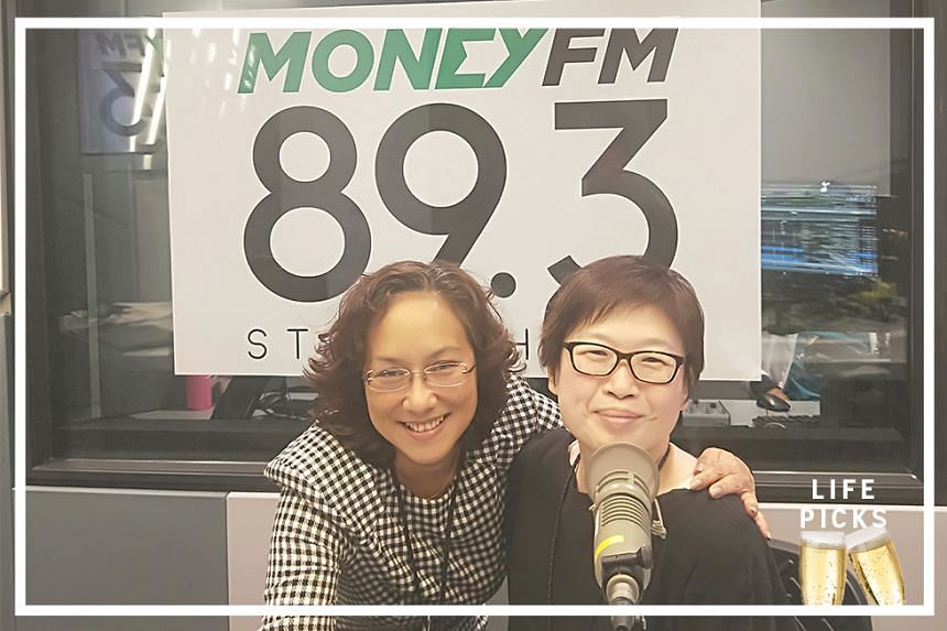 Money FM's Claressa Monteiro (left) chats with ST's food editor Tan Hsueh Yun (right) about her pick for the week.