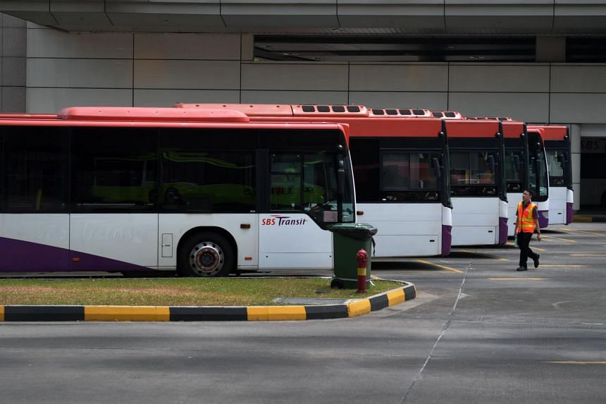 A SBS Transit bus captain walks to his bus at the Toa Payoh bus interchange on Sept 1, 2019.