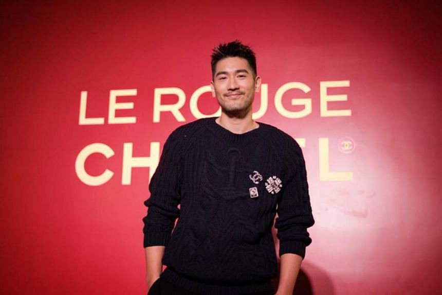 Godfrey Gao reportedly looked well as filming continued through the night.