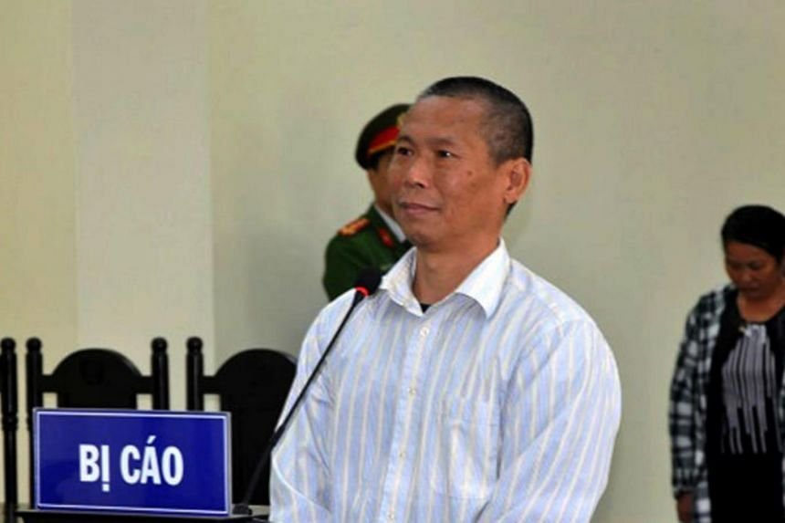"""Pham Van Diep was jailed for nine years for spreading """"distorted information defaming the Communist Party and the Vietnamese government""""."""
