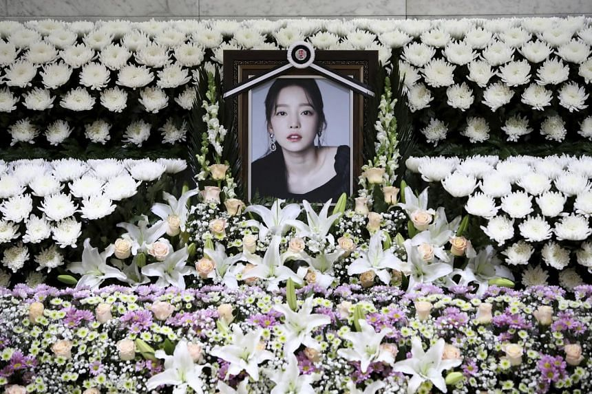 South Korean singer Goo Hara was found dead at her home in Seoul on Nov 24.