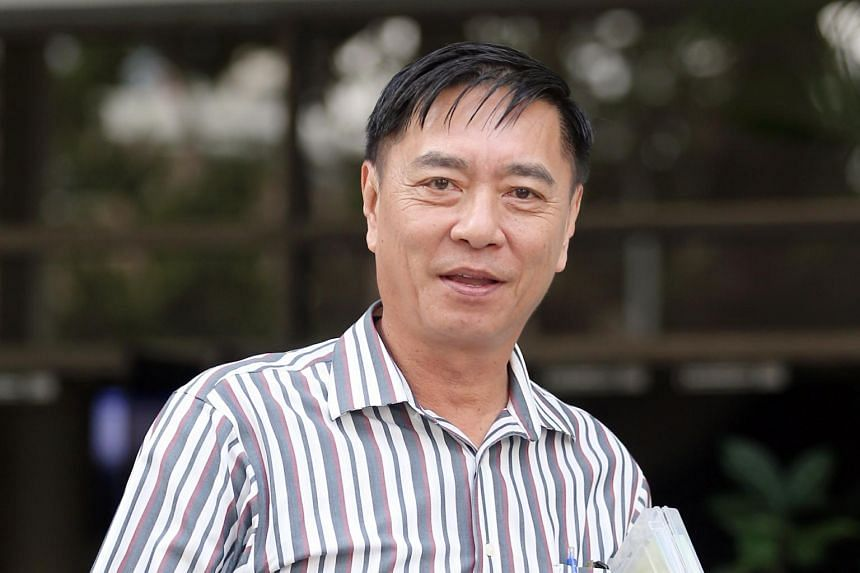 Veteran local actor-director Ng Aik Leong, better known as Huang Yiliang, was charged with one count each of causing hurt with a weapon and an unrelated affray charge involving another man.