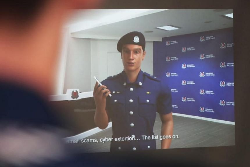 Moulded to present the best side of Singapore's men in blue, Inspector Clif is an online avatar, available on his own Facebook page.