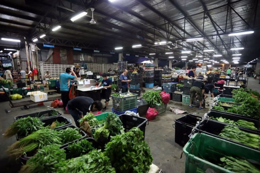 Imported vegetables and fruit on sale at Pasir Panjang Wholesale Market. Malaysia is deferring its plan to revise its export permit scheme for fruits and vegetables till April 2020, following an outcry from sellers in Johor.