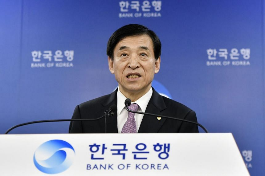 Bank of Korea Governor Lee Ju-yeol said the economy would expand by 2 per cent in 2019 and 2.3 per cent in 2020, both 0.2 percentage point lower than the previous forecast.