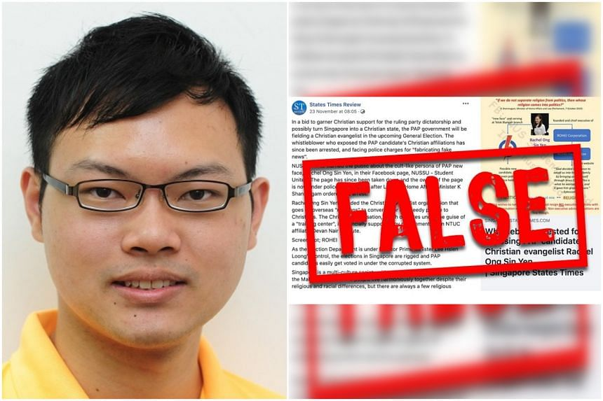 Mr Alex Tan, the editor of States Times Review, refused on Thursday to comply with an order by the Pofma Office to correct false statements in the post.