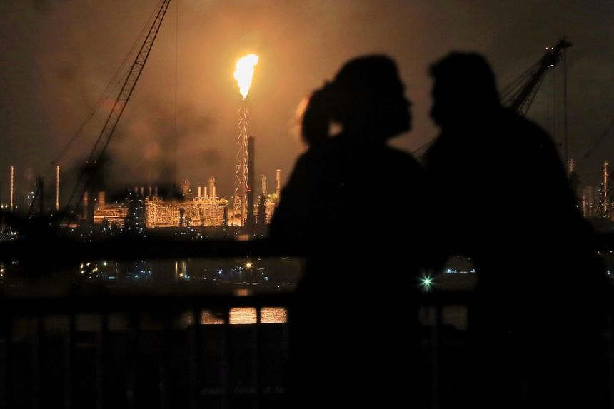It is believed that the flaring process on Jurong Island which produced the flames is a part of normal combustion processes by companies there.