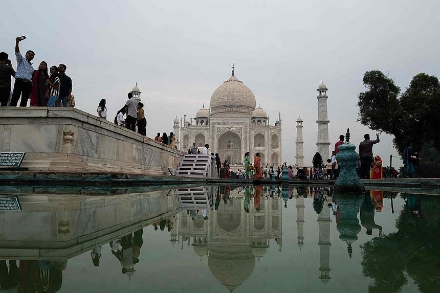 The Taj Mahal, a 17th-century mausoleum commissioned by Mughal emperor Shah Jahan, in Agra, in India's Uttar Pradesh state. Speculation is rife that Agra may be renamed after the local district administration initiated an inquiry to find out if it wa