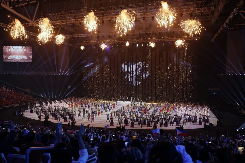 The opening ceremony of the SEA Games at the Philippine Arena in Bocaue on Nov 30, 2019.
