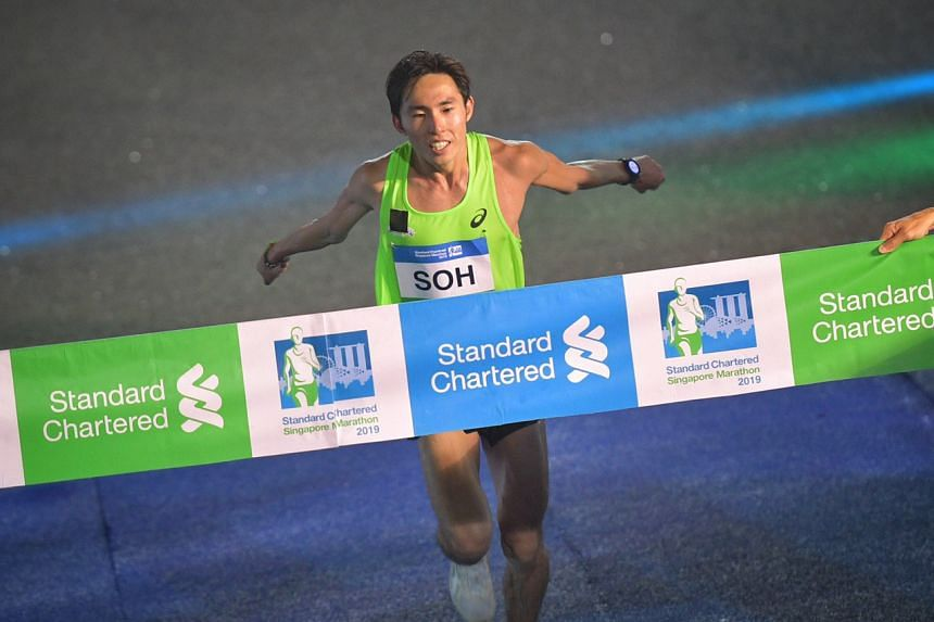 Singapore's Soh Rui Yong was the top local male finisher for the third year in a row, crossing the finish line in 2:45:52.