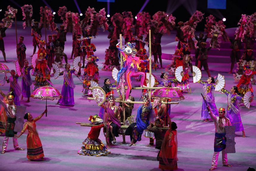 A dance performance at the opening ceremony of the SEA Games at the Philippine Arena in Bocaue on Nov 30, 2019.