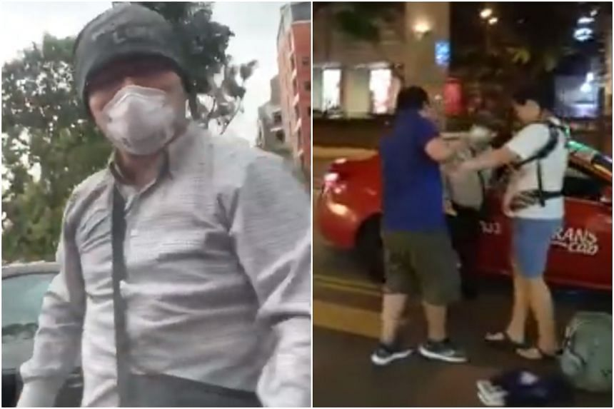 Feng Zhanning was filmed punching and kicking a car, and hurling vulgarities at a couple with a baby, in two separate incidents.
