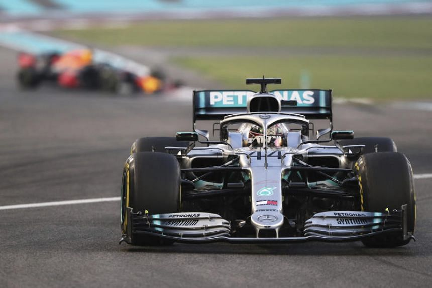Mercedes driver Lewis Hamilton steers his car during the Emirates Formula One Grand Prix, at the Yas Marina racetrack in Abu Dhabi, on Dec 1, 2019.
