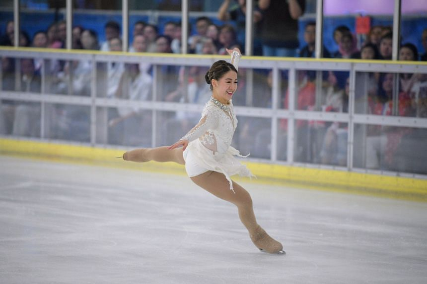 Singapore figure skater Chloe Ing performing her gold-winning routine at the 30th SEA Games in Manila, on Dec 1, 2019.