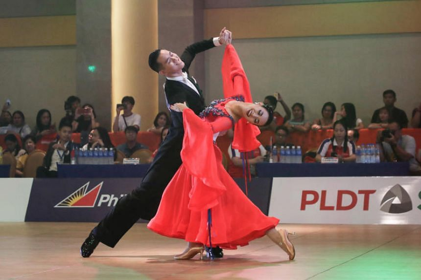 Singapore's Jerome and Rachel Teo performing their routine during the Mixed Viennese Waltz event at the SEA Games on Dec 1, 2019.