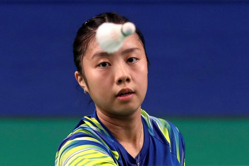 Yeo Jia Min (pictured) lost 2-0 (21-15, 23-21) to Gregoria Mariska Tunjung, who is one rung higher in the world rankings.