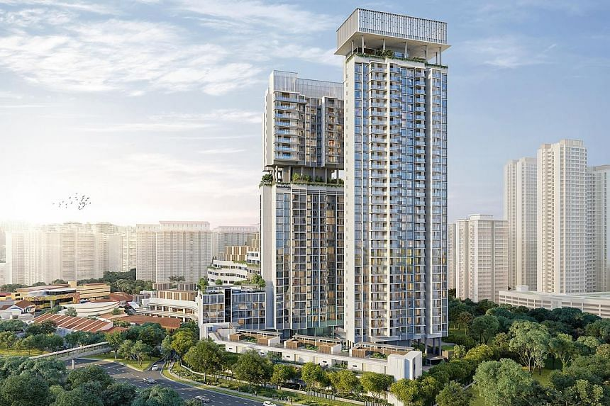 One Holland Village Residences comprises three types of units: Sereen, a 34-storey tower with 248 units of one-, two-and three-bedroom units; Leven, a three-storey block comprising 21 two-bedroom units; and Quincy Private Residences, a 28-storey bloc