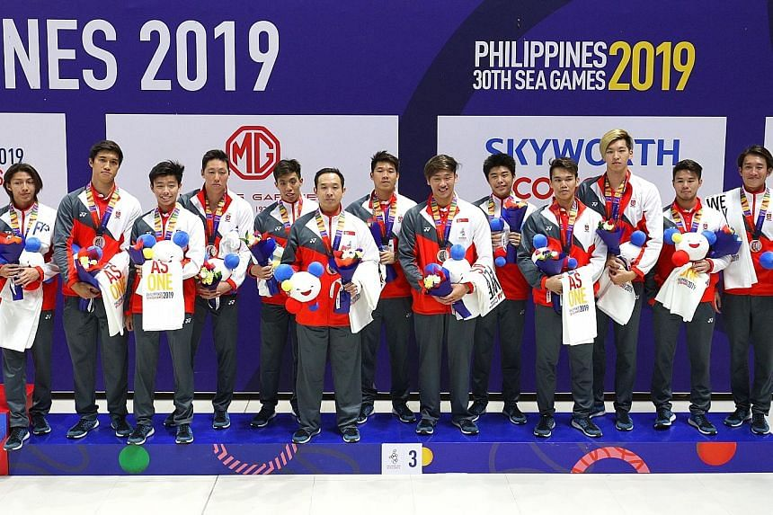 The Singapore water polo men's team managed only a bronze after holding the SEA Games title for 52 years, losing a game - 7-5 to Indonesia - for the first time ever.