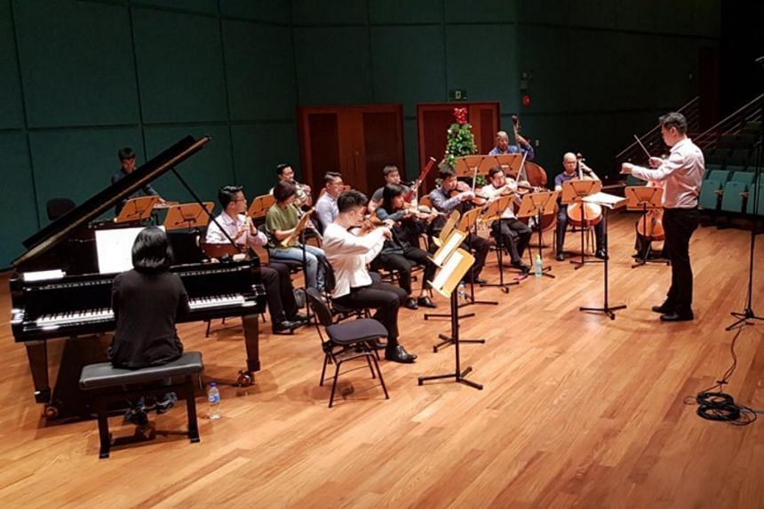 The 19-member ensemble conducted by Leonard Tan showcased ten world premieres of works built around the festive theme.