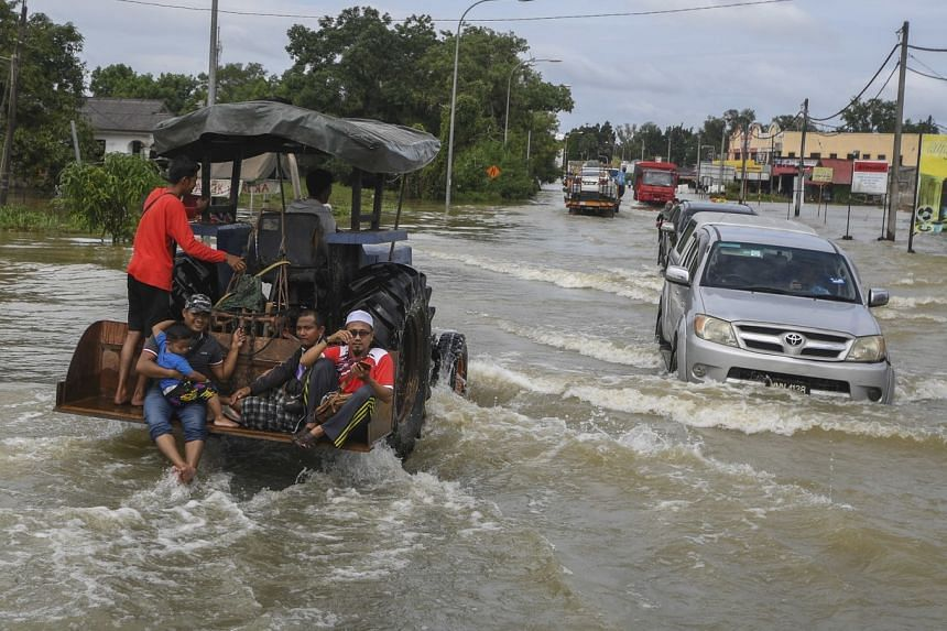 Over 13,000 people in Kelantan were forced to evacuate to 63 flood relief centres.