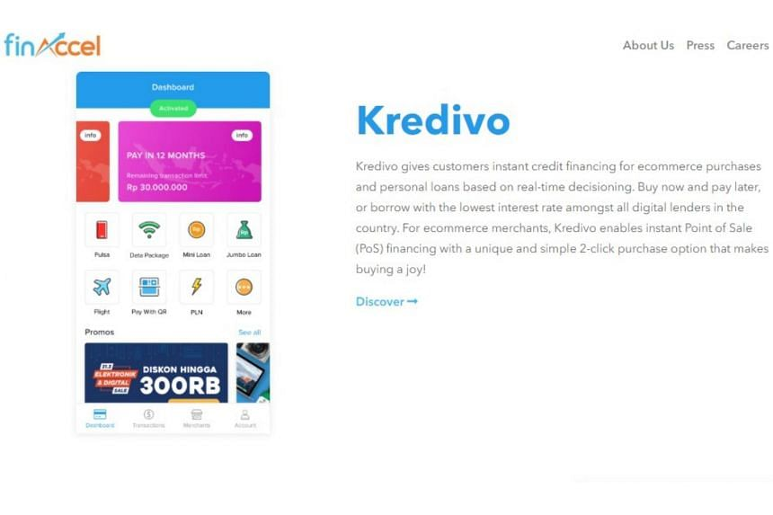 FinAccel's Kredivo app allows online shoppers to apply for a loan through a mobile app and get approval in minutes if they qualify.
