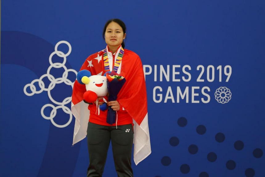 Singapore's Cheyenne Goh won the 500m title in 46.421sec.