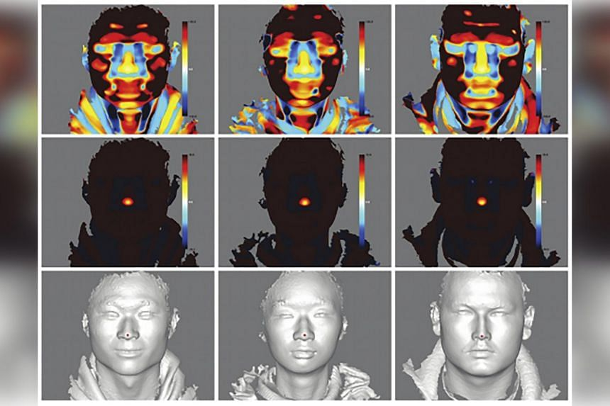 In an undated image provided by BMC Bioinformatics, images from a study in 2013 on 3D human facial construction.