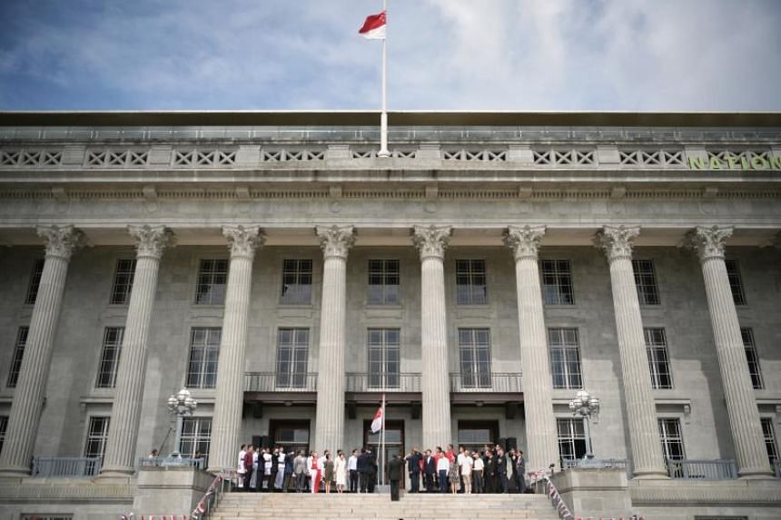 The new recording was played at a flag-raising ceremony on the steps of the former City Hall building, which is now the National Gallery, on Dec 3, 2019.