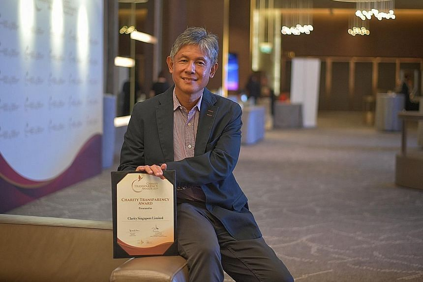 Mr Fred Cordeiro, executive director of Clarity Singapore, which won the Charity Transparency Awards. It provides group rehabilitation and individual psychotherapy to people with mental health conditions.
