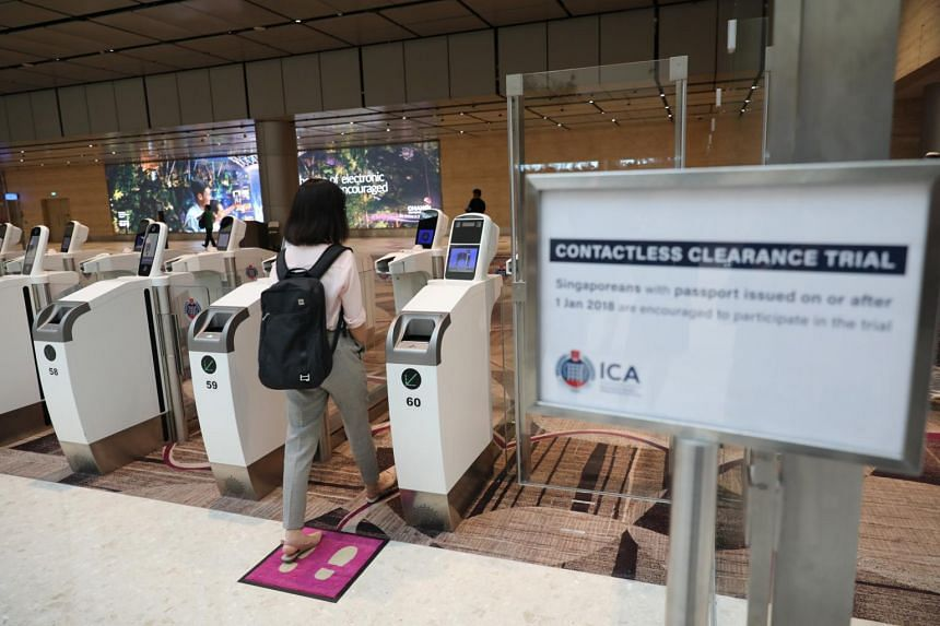 Travellers who used the two contactless systems cleared the immigration process faster than those in the passport-and-thumbprint lanes.