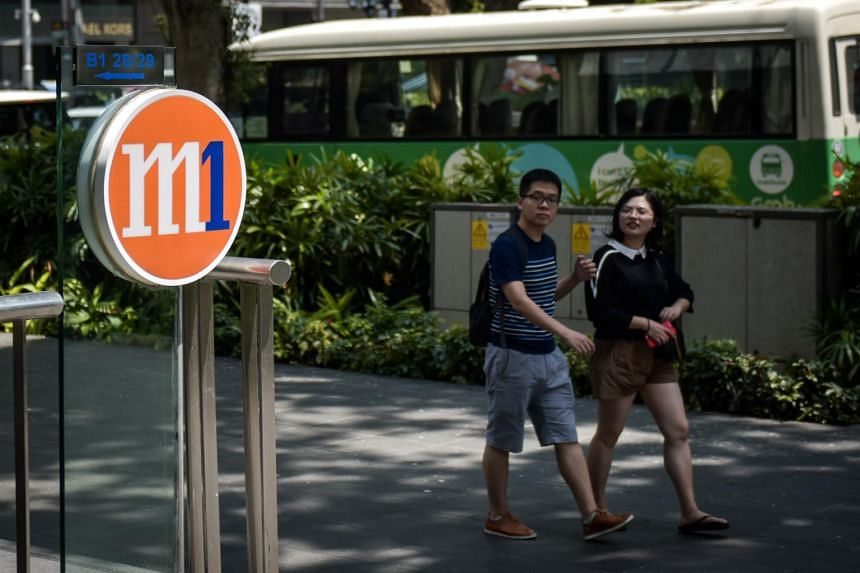 The M1 logo outside Paragon Mall.