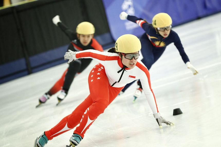 Short track speed skater Cheyenne Goh had previously won the women's 500m title at the SEA Games on Dec 3, 2019.