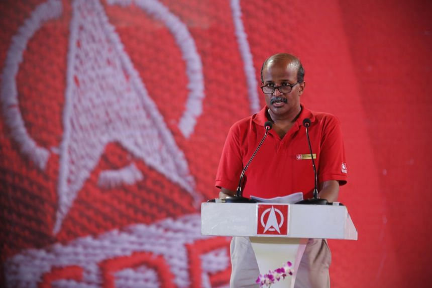 Singapore Democratic Party chairman Paul Tambyah speaking at a rally at Jurong East stadium on Sept 6, 2015.