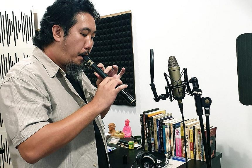 Film composer Teo Wei Yong (above) created the score for the film, A Land Imagined (left).